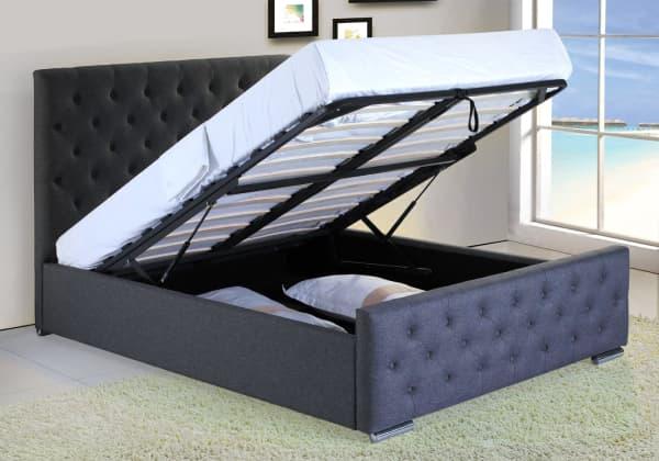 carolina ottoman bed lift up storage