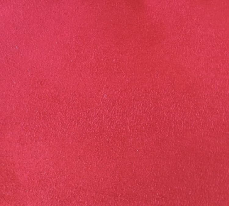 Custom Bed Upholstery Suede Red